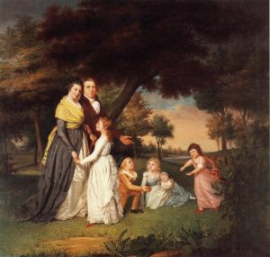 A painting of a family